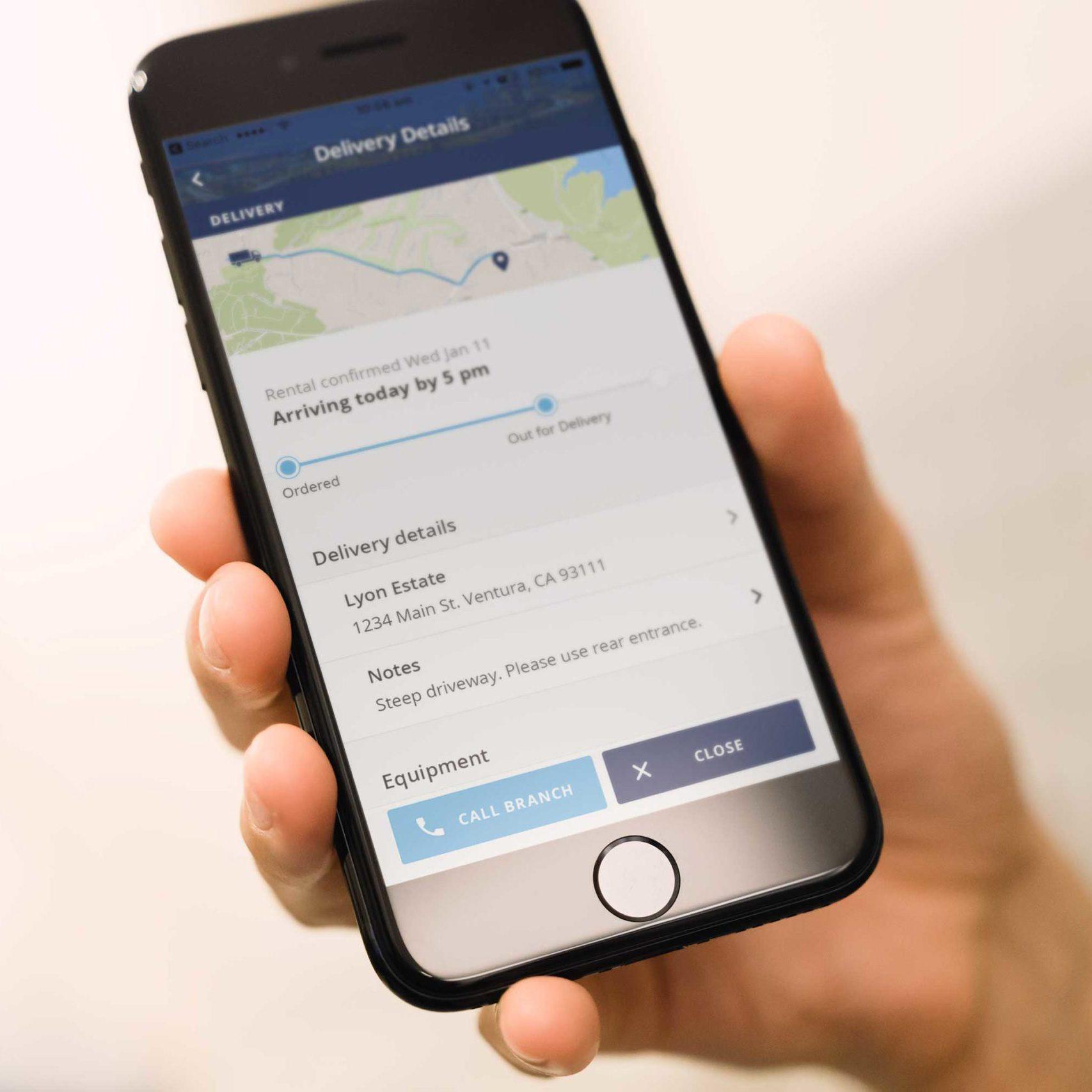 BlueLine Customer Mobile App