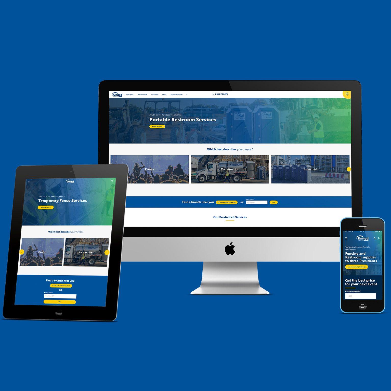 USS responsive website